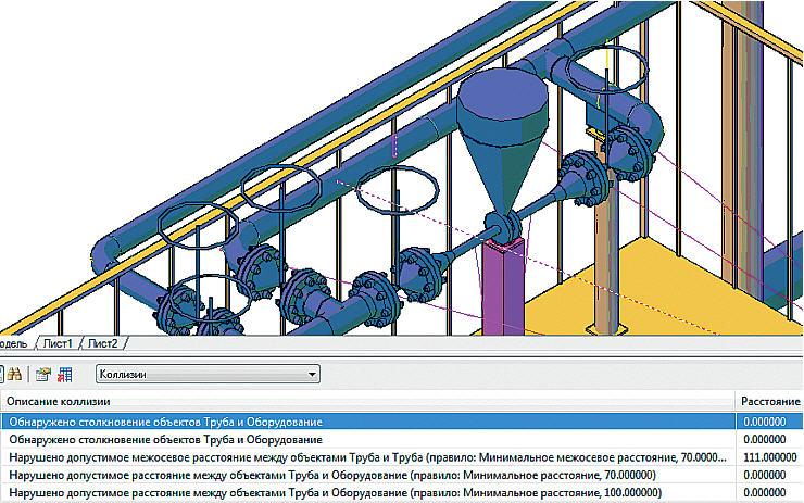 Средствами Model Studio CS Трубопроводы модель легко редактировать (на рисунке показано, как простым переносом трубы перестраивается весь байпас)