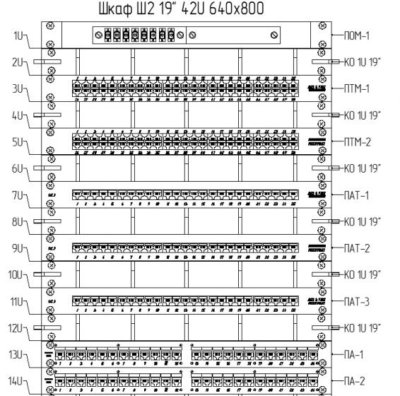 Схема компоновки монтажного