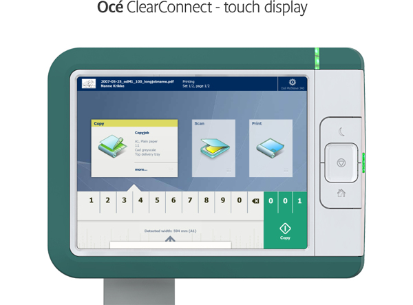 Oce ClearConnect - touch display