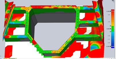 Анализ  результатов 3D-сканирования в ПО Geomagic показал высокую точность, достаточную для изготовления сопряженных деталей