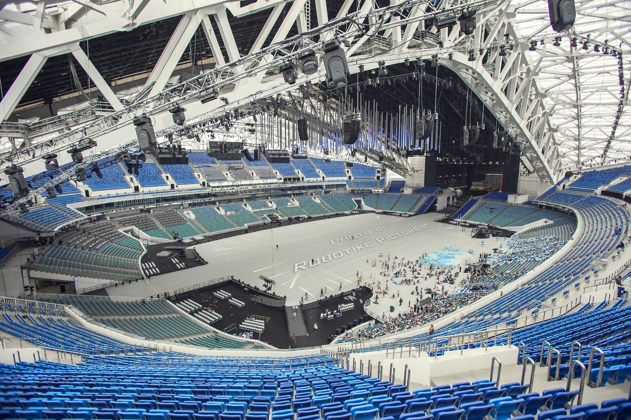 Рисунок 1. Проект в Tekla Structures. Олимпийский стадион Фишт, Сочи, 2014г